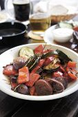 pic of brinjal  - Grilled vegetables with spices on the summer terrace