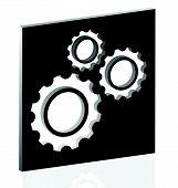 picture of gear wheels  - Various gear wheel rack wheel vector graphics - JPG