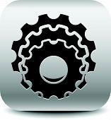 foto of rework  - Various gear wheel rack wheel vector graphics - JPG