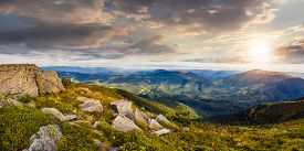 foto of mountain-range  - panoranic mountain landscape - JPG