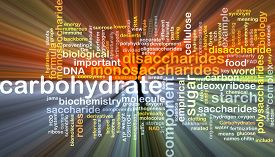 pic of carbohydrate  - Background text pattern concept wordcloud illustration of carbohydrate glowing light - JPG