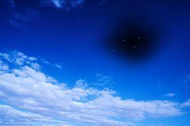 picture of ozone layer  - Symbolic image of the ozone hole - JPG