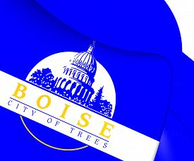 foto of boise  - 3D Flag of Boise - JPG