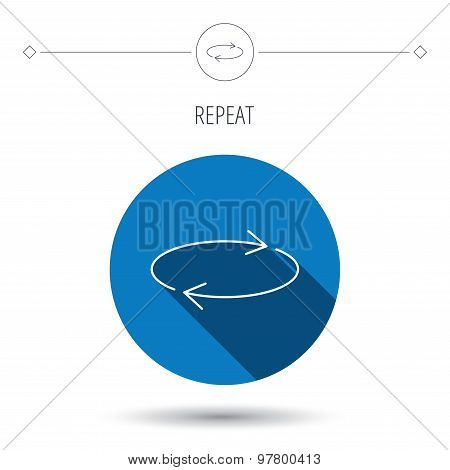 Repeat icon. Full rotation sign.