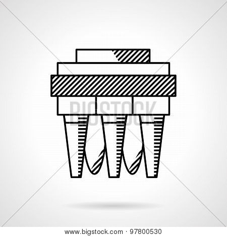 Water filter system line vector icon