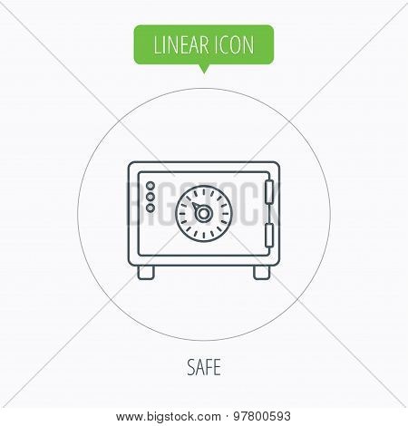Safe icon. Money deposit sign.