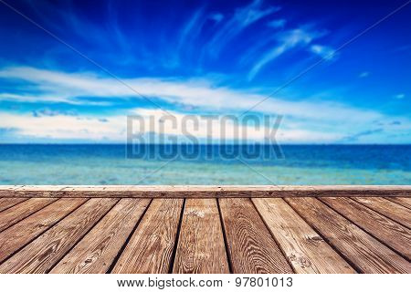 Boardwalk Pier And Open Seascape