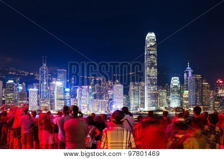 Group of tourist in Hong Kong