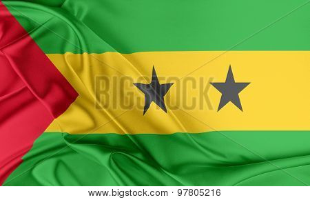 Sao Tome and Principe Flag.