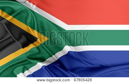 South Africa Flag.