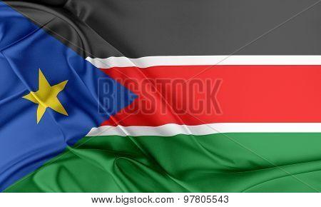 South Sudan Flag.