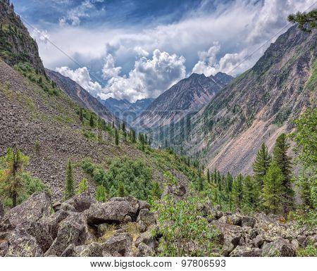 Mountain Valley. Eastern Siberia