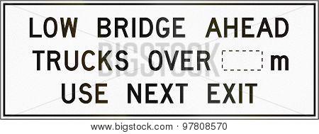 Low Bridge Ahead In Canada