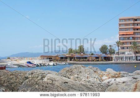 Wooden Pier In Cala Estancia