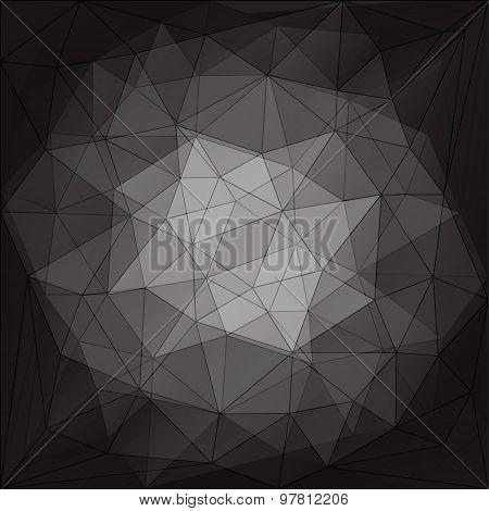 abstract triangular pattern design