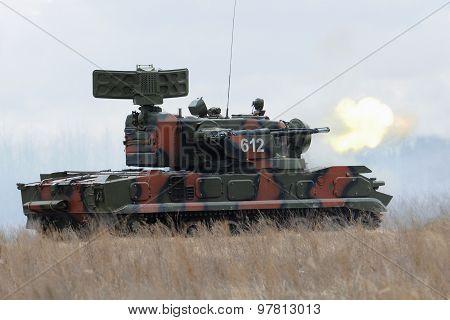 Antiaircraft gun-missile system