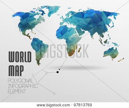 World Map and Information Graphics