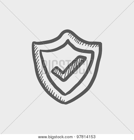 Best seller guaranteed badge sketch icon for web and mobile. Hand drawn vector dark grey icon on light grey background.