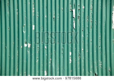 green corrugated iron fencing