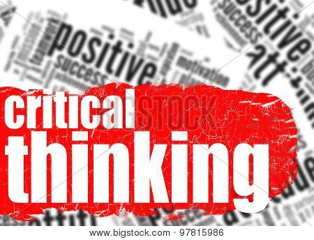 Word Cloud Critical Thinking