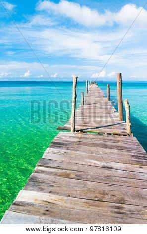 Path filled with Love Jetty to the blue