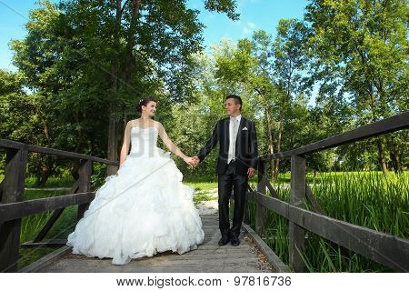 Wedding Photo Of Newlyweds