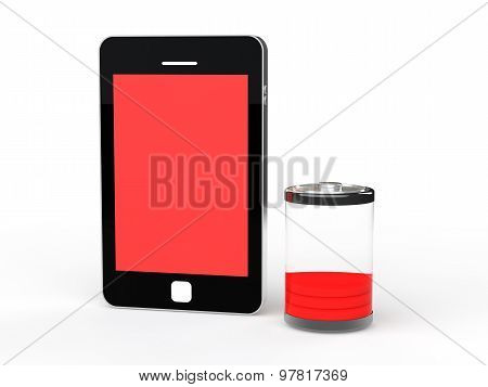 3d cellphone with low battery
