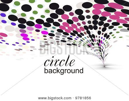 abstract halftone doted background