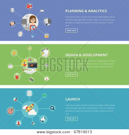 Flat Design Style Modern Vector Illustration Concept For Web And Infographic
