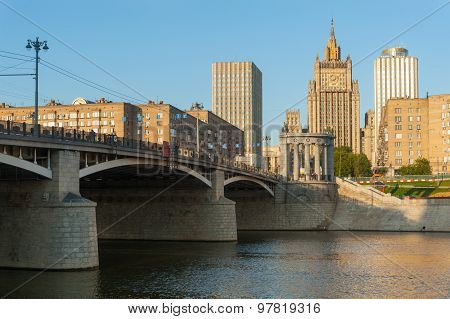 Borodinsky Bridge, Ministry Of Foreign Affairs Of Russian Federation And Golden Ring Hotel