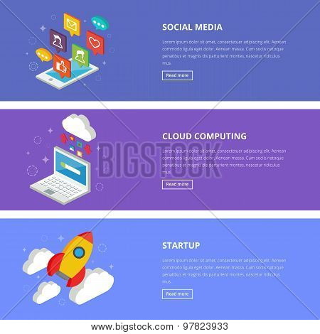 Flat Design Style Modern Vector Illustration Concept For Web