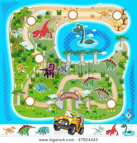 Prehistoric Zoo Map Collection 01