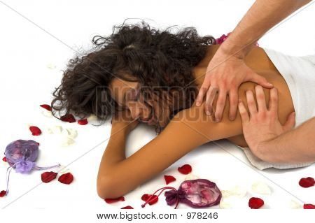Beautiful Woman Enjoying Massage