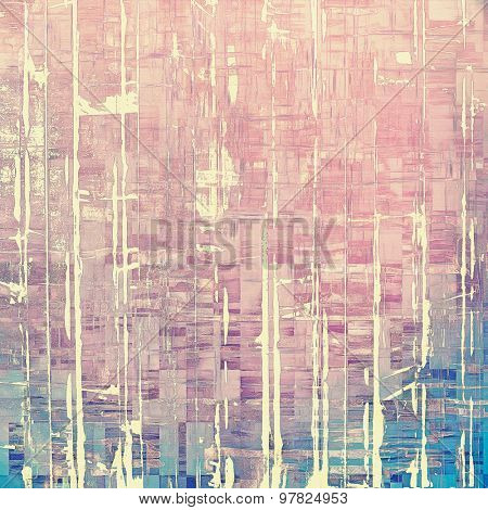 Old abstract texture with grunge stains. With different color patterns: pink; purple (violet); blue; gray