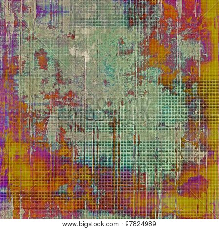 Designed grunge texture or background. With different color patterns: yellow (beige); red (orange); purple (violet); green