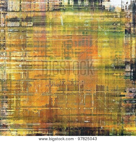 Grunge retro texture, elegant old-style background. With different color patterns: yellow (beige); brown; green; black