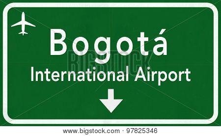 Bogota Colombia International Airport Highway Sign