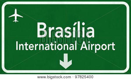 Brasilia Brazil International Airport Highway Sign