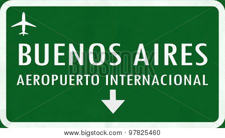 Buenos Aires Argentina International Airport Highway Sign