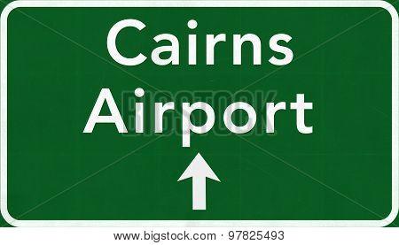 Cairns Australia International Airport Highway Sign