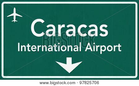 Simon Bolivar Caracas Venezuela International Airport Highway Sign