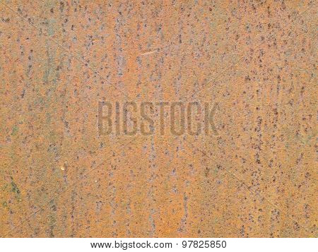 Abstract Rust On The Metal Surface.