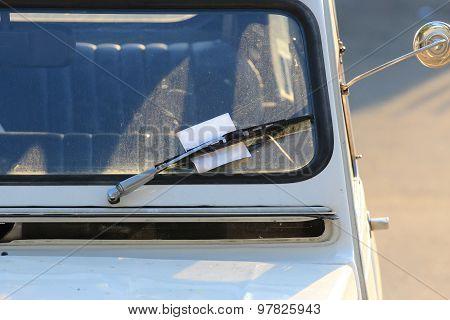 traffic ticket Windshield