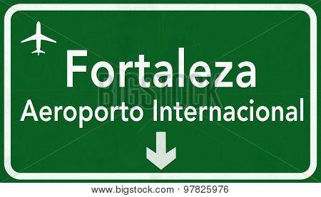 Fortaleza Brazil International Airport Highway Sign