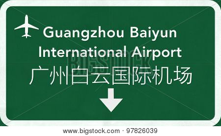Guangzhou Baiyun China International Airport Highway Sign