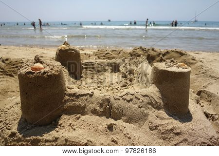 Sand Castle In Sperlonga, Italy
