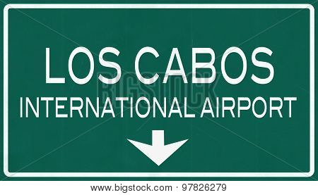 Los Cabos Mexico International Airport Highway Sign