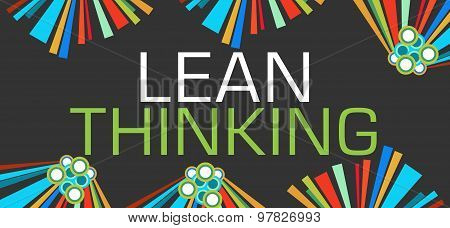Lean Thinking Dark Colorful Elements