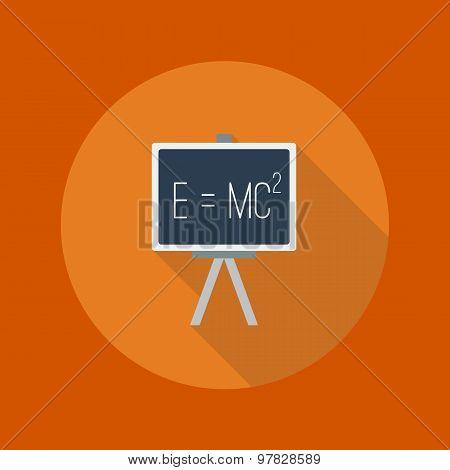 Education Flat Icon. Blackboard