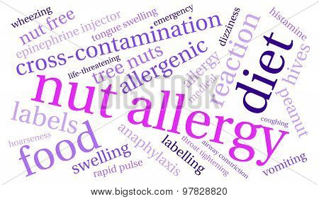 Nut Allergy Word Cloud